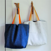 Sew a cotton tote bag for shopping