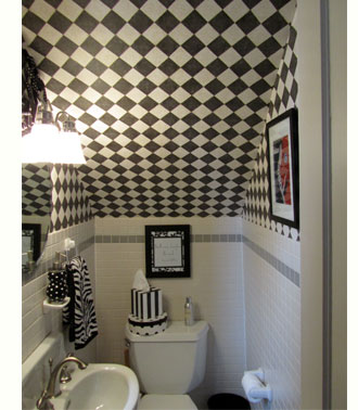 bathroom designs under stairs