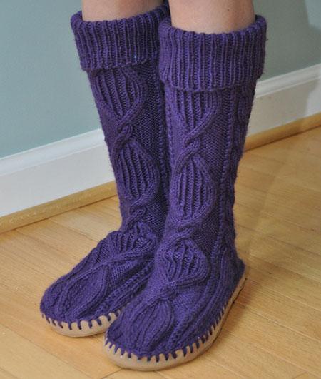 Knitting Pattern For House Socks : Crafts knitting slippers