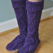 Make your own slipper socks
