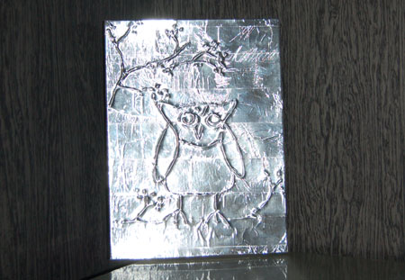 Home Dzine Craft Ideas Kids Art With Tin Foil