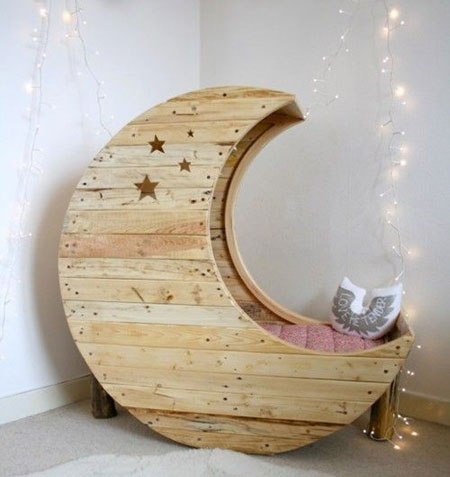 pine moon bed crib