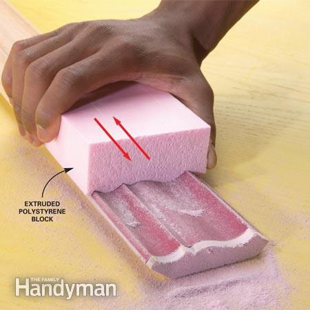 Home Dzine Home Diy Easy Sanding Of Moulding And Trim