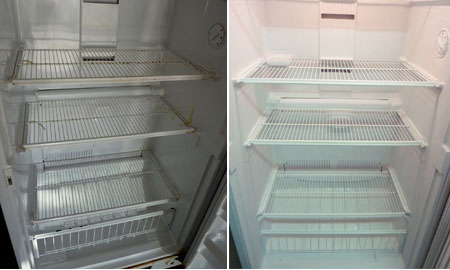 Home dzine kitchen how to spray paint your fridge - What temperature can you paint outside ...