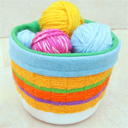 Weave your way to colourful recycled containers