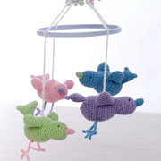 Cute baby bird mobile