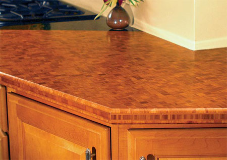 Eco Countertop Edges : Tones and textures can vary. Edge-grain bamboo counters tend to be ...