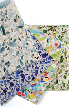 Recycled Glass Countertops