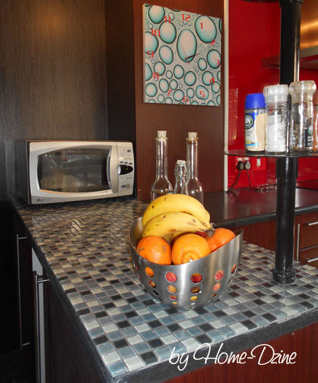 Home dzine kitchen apply mosaic tile to kitchen countertops for Mosaic tile bar top