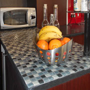 How to add mosaic tile to kitchen countertop