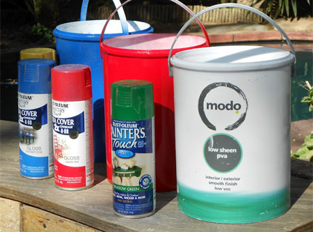 Recycle paint pots and paint containers