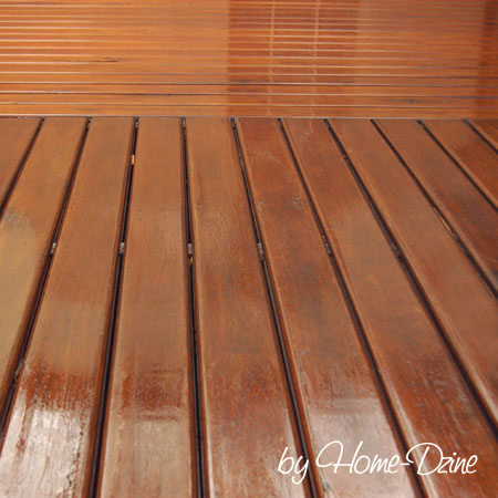 Maintain a timber deck