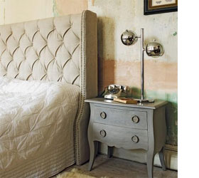 wing back headboard