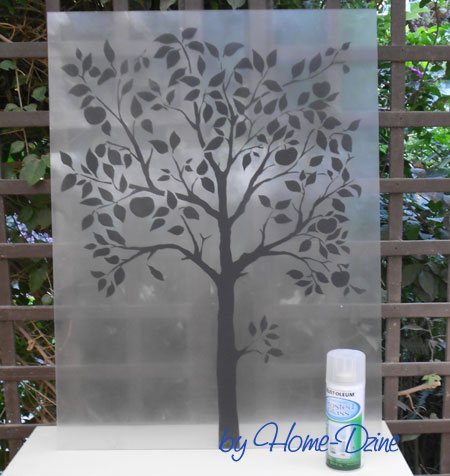 HOME DZINE Craft Ideas | Frosted glass tree design