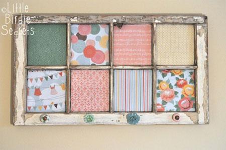 home dzine craft ideas old or reclaimed window frames. Black Bedroom Furniture Sets. Home Design Ideas