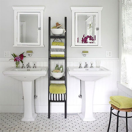 home dzine bathrooms | ideas for bathroom shelves Bathroom Shelf Ideas