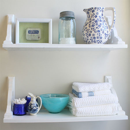 Ideas For Bathroom Shelves Cottage Country Shabby Chic