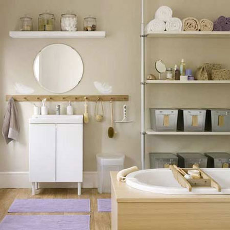 Ideas for bathroom shelves industrial shelving