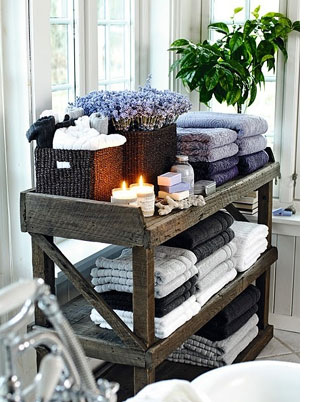 Ideas for bathroom shelves reclaimed pallets