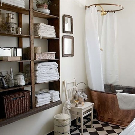 Ideas for bathroom shelves vintage reclaimed wood