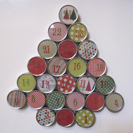 upcycle can advent calendar