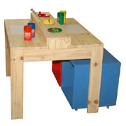 diy kiddies table and cubbies