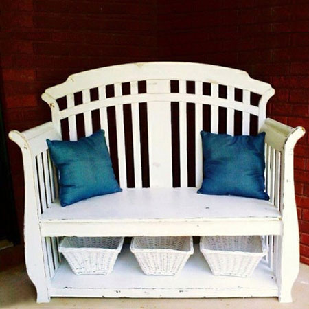 repurpose reuse upcycle recycle cot or crib