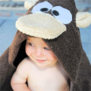Super-cuddly hooded towels