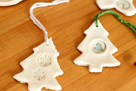 Salt dough is a cheap alternative to clay and the kids can spend some time making their own Xmas decorations for the tree