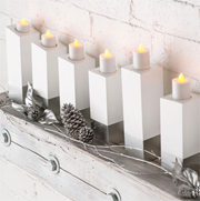DIY festive candle holders