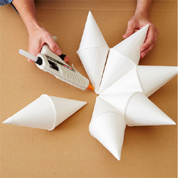 Christmas Star With Paper Cups Step 2