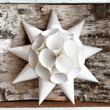 Home Dzine Craft Ideas Christmas Star With Paper Cups