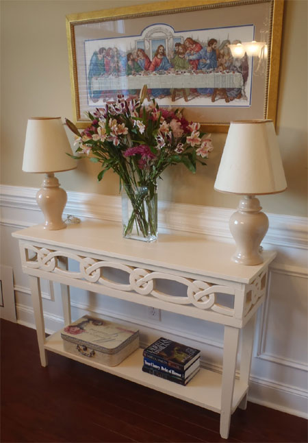 Home dzine home diy diy console table for How to dress a table