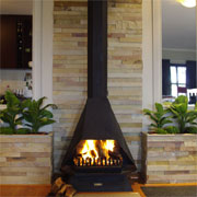 Fireplace and wall cladding