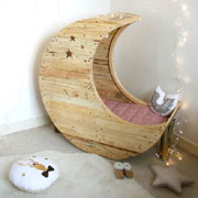 DIY moon crib or moon bed