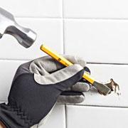 Fix a broken tile without power tools