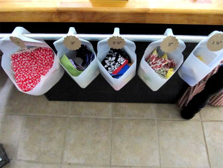 Repurpose or reuse milk bottles into nifty storage containers