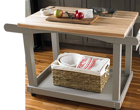 Home Dzine Kitchen Make A Mobile Countertop Or Server