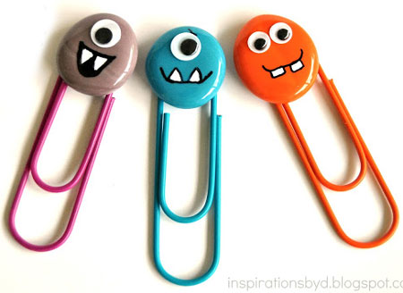 Home Dzine Craft Ideas Monster Paper Clips