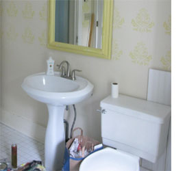 Pedestal Sink Pipe Cover : HOME DZINE Bathrooms How to hide or disguise a pedestal sink
