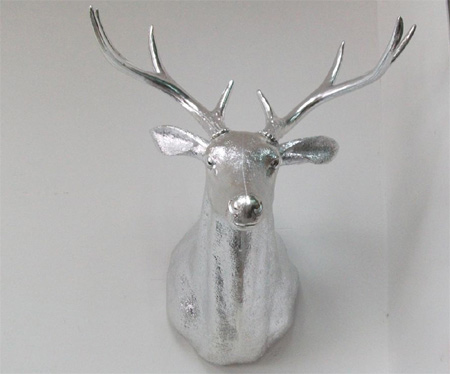 wall-mounted deer head