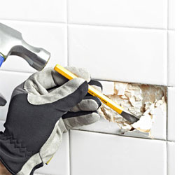 HOME DZINE Home DIY Fix A Broken Tile Without Power Tools - How to fix broken tile in bathroom