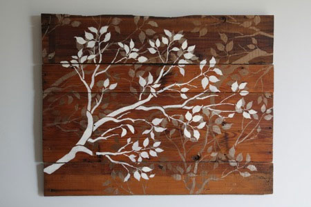 HOME DZINE Craft Ideas   Make your own wall art with scrap wood