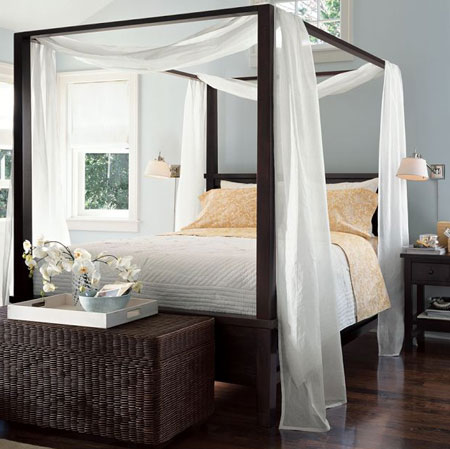 Home dzine bedrooms beautiful 4 post bed designs - Pictures of canopy beds ...