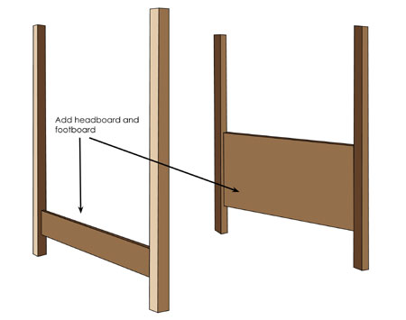 how to build a 4 poster bed frame 1