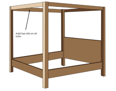 Home dzine home diy how to make a diy 4 poster bed for Diy poster bed