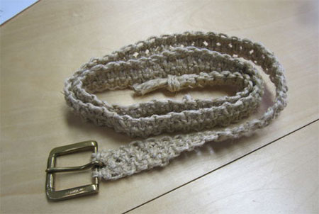 Make a twine or cotton rope belt