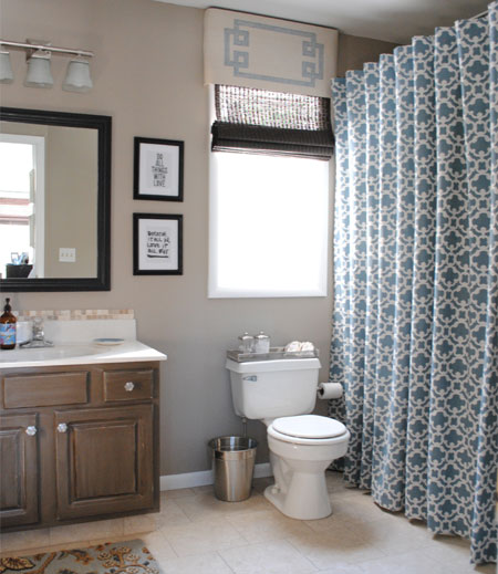 Make A Designer Shower Curtain