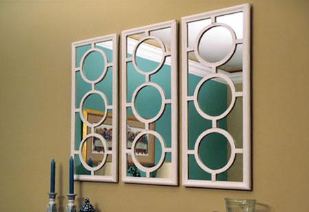 mirror with circle onlays - Decorative Mirror