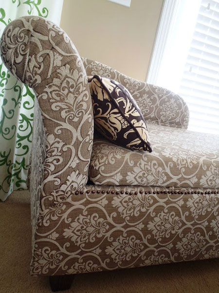 Reupholster chaise lounge diy